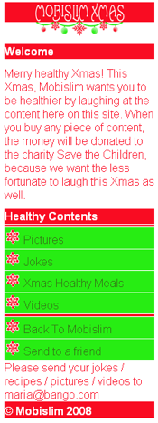 This is the Xmas mobile site I created!