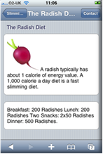 iMobislim radish diet